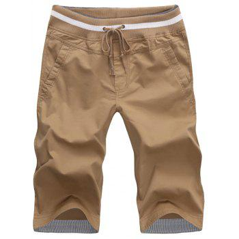 Casual Drawstring Pocket Bermuda Shorts
