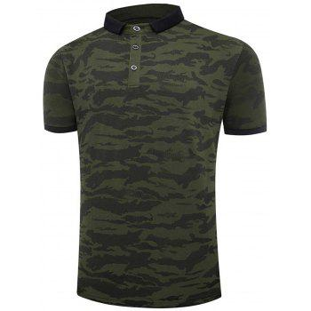 Camouflage Short Sleeve Polo T-shirt