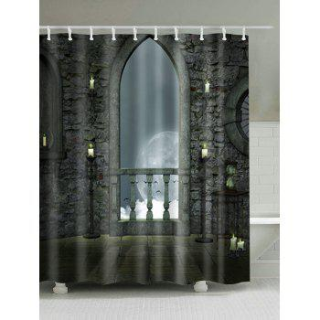 Moonlight Castle Mildew Resistant Bathroom Curtain