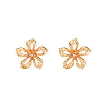 Artificial Pearl Flower Stud Tiny Earrings