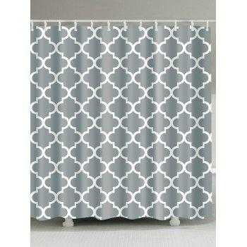 Geometry Pattern Waterproof Fabric Bathroom Curtain
