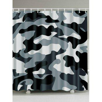 Thicken Camo Polyester Fabric Shower Curtain