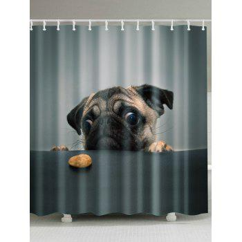 Puppy Pet Bathroom Shower Curtain with Hooks