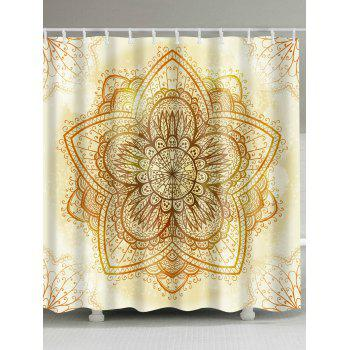 Indian Mandala Waterproof Fabric Shower Curtain