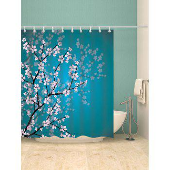 Plum Blossom Mouldproof Bathroom Shower Curtain - Pers W59 INCH * L71 INCH