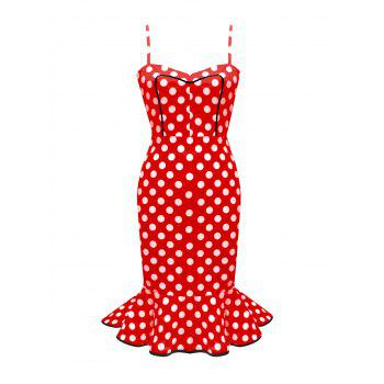Vintage Polka Dot Mermaid Dres