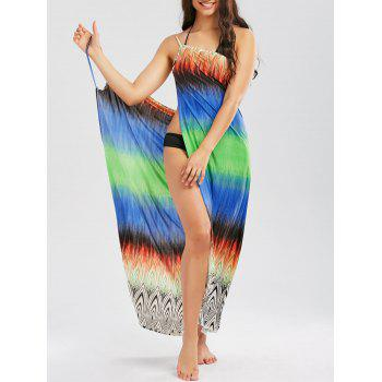 Colorful Cover Up Slip Wrap Dress