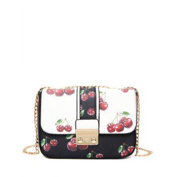 Mini Chain Strap Cherry Print Crossbody Bag