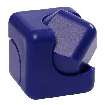 Stress Relief Plastic Cube Hand Spinner -  BLUE