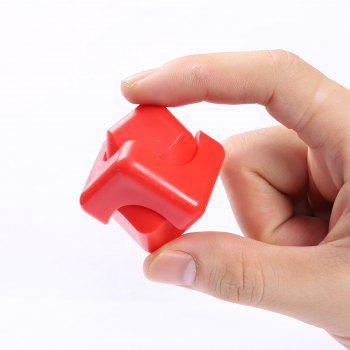 Stress Relief Plastic Cube Hand Spinner - RED RED