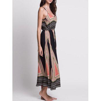 Printed Long Bohemian Slip Dress - multicolorcolore L