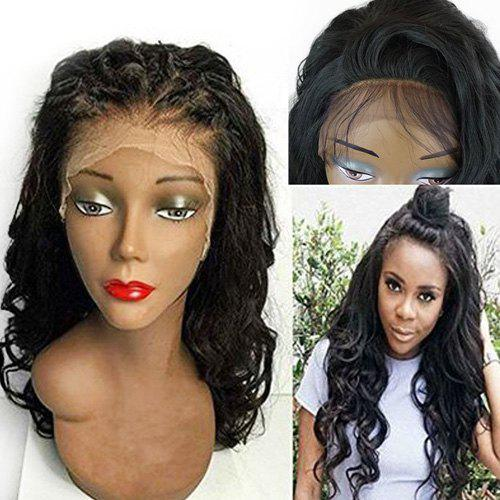 Lace Front Long Free Part Shaggy Wavy Synthetic Wig - BLACK