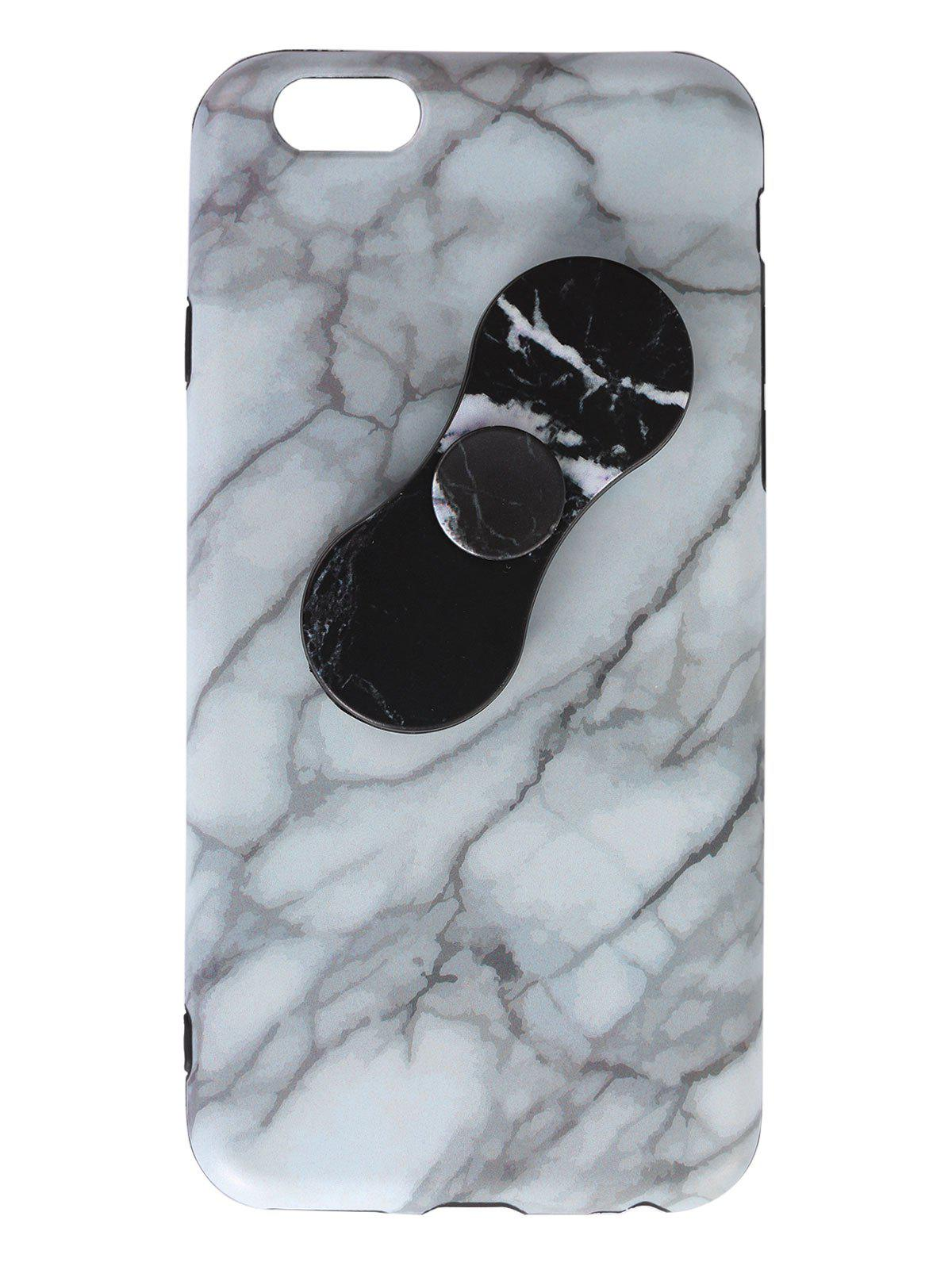 Marble Print Plastic Finger Gyro Soft TPU IPhone Cover - WHITE IPHONE 5