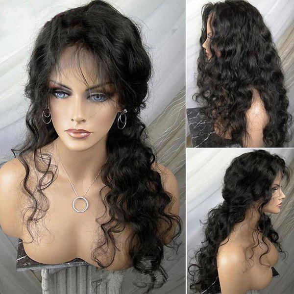 Long Shaggy Free Part Body Wave Lace Front Synthetic Wig celebrity top fashion long body wave style fiery red synthetic lace front long red wig