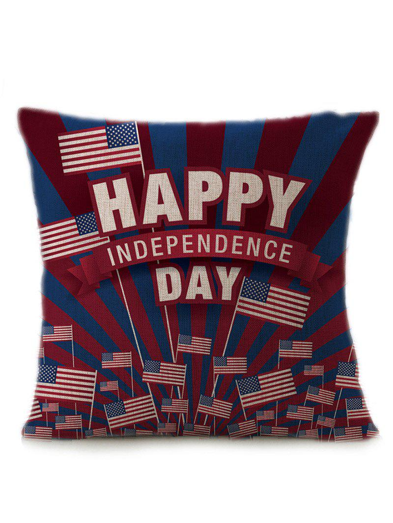 Independence Day Patriotic American Flag Pillow Case - multicolorCOLOR 45*45CM