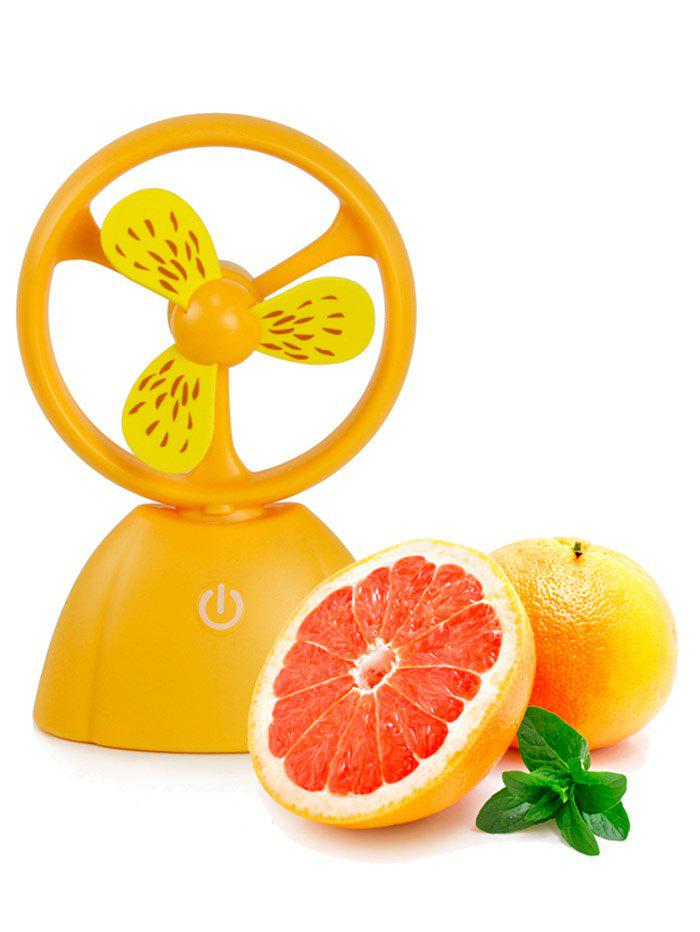 Portable Mini USB Fruit Style Fan - Orange