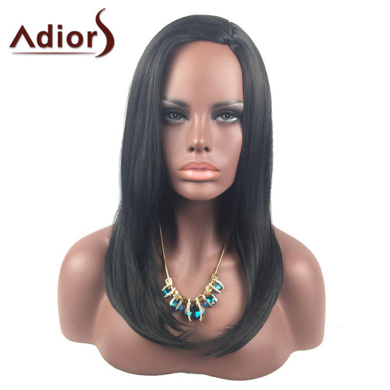 Adiors Long Side Parting Tail Adduction Straight Synthetic Wig adiors hightlight side parting ultra long straight synthetic wig
