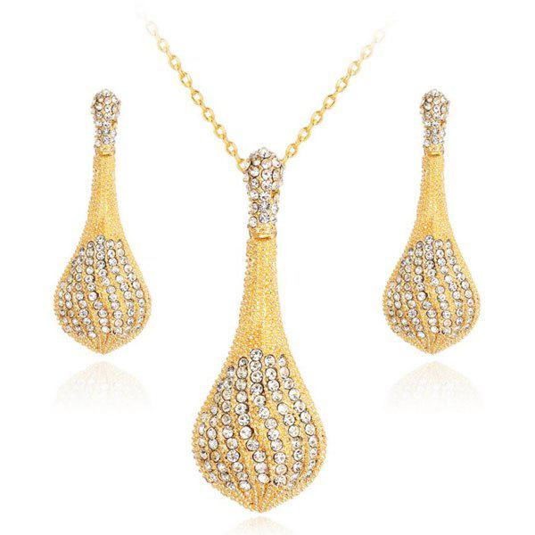 Rhinestone Pendant Necklace with Earrings Set ipx41 ml g41 itx mini motherboard 775 platform 100