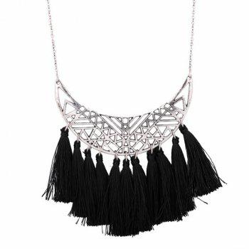 Tassel Crescent Pendant Necklace