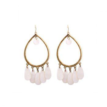 Water Drop Alloy Hook Earrings