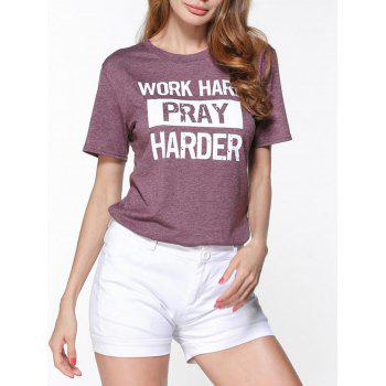 Short Sleeve Work Hard Pray Harder T-Shirt