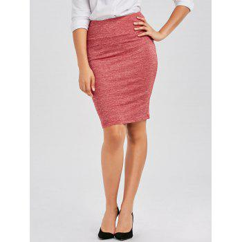 Knee Length Zipper Pencil Skirt