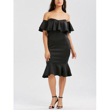 Ruffle Off The Shoulder Mermaid Dress