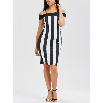 Spaghetti Strap Striped Bodycon Dress