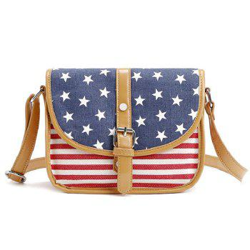 Small Canvas American USA National Flag Shoulder Bag