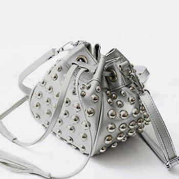Tassels Rivets Bucket Bag