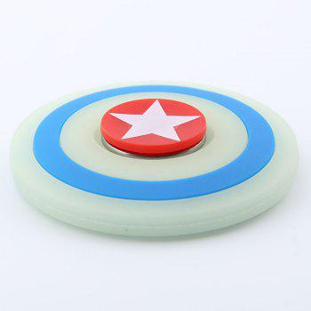 Glow In The Dark Round Silicone Fidget Spinner - Turquoise
