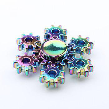 Colorful Rudder Shape Fidget Metal Spinner - multicolorcolore