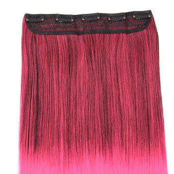 Clip In Short Straight Ombre Hair Extensions - BLACK / ROSE