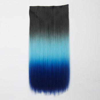 1Pcs Silky Long Straight Multi Color Ombre Clip In Hair Extensions