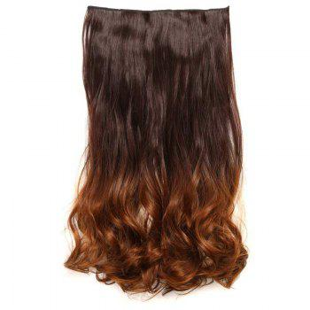 1Pcs Two Tone Wavy Medium Clip In Hair Extensions