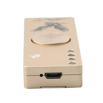 LED Light Alloy USB Cigar Lighter Hand Spinner - GOLDEN