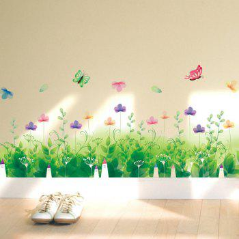 Pastoral Skirting Line Removable Wall Sticker