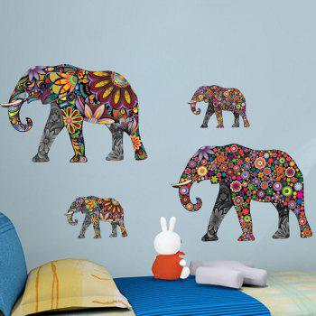 Ethnic Floral Elephant Decorative Wall Decal