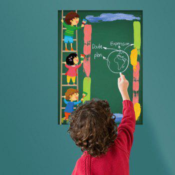Office Decor Cartoon Blackboard Wall Sticker For Kids