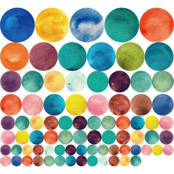 2018 Colorful Circle Diy Vinyl Kids Nursery Wall Sticker Colormix Cm In Wall Stickers
