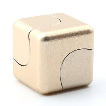 Focus Toy Alloy Fidget Cube Spinner - Or