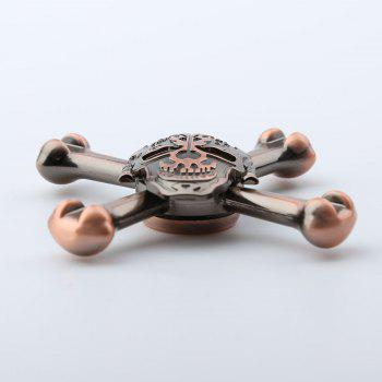 EDC Metal Skull Design Finger Toy Fidget Spinner - Rouge Bronze 7.5*7.5*1.5CM