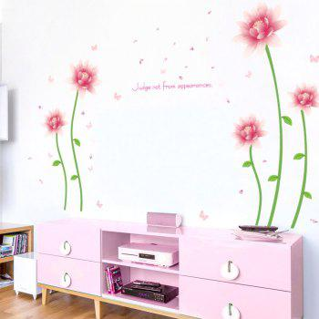 Floral Butterfly Letter Vinyl Wall Sticker