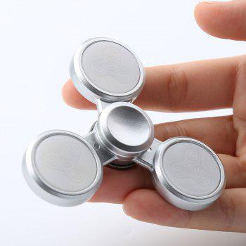 Stress Relief Triangle LED Light Fidget Hand Spinner - SILVER 8*8*1.5CM