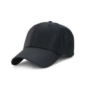 Outdoor Shimmer Adjustable Long Tail Baseball Cap - BLACK BLACK