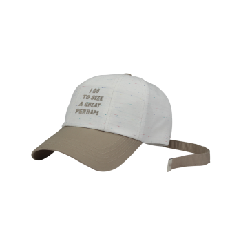Letters Embroidery Adiustable Long Tail Baseball Hat -  WHITE