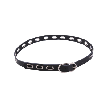 Metal Oval Hole Hollow Out Waist Belt