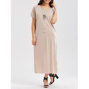 Button Up Short Sleeve T Shirt Dress
