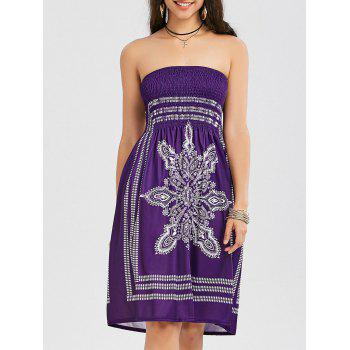 Bohemian Tribal Print Bandeau Dress