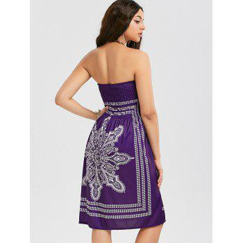Bohemian Tribal Print Bandeau Dress - XL XL